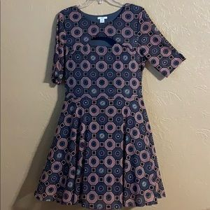 Dress with skirt lining